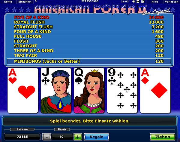 www casino online american poker spielen