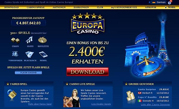 Europa Casino spielen