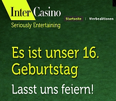Intercasino Bonus 250€