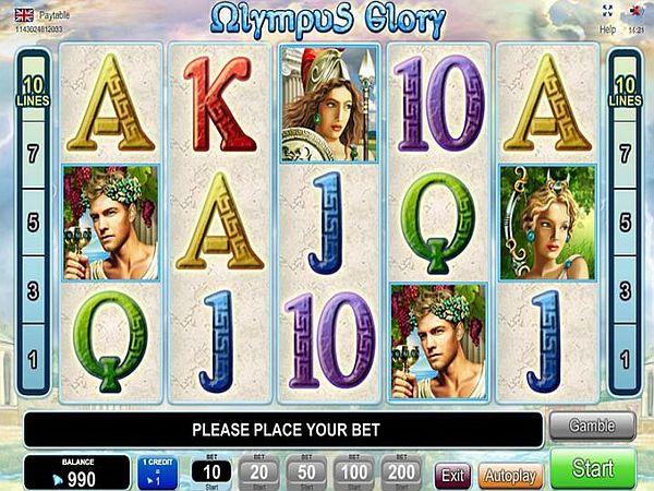 olympus glory spielen