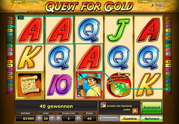 Novoline Quest for Gold