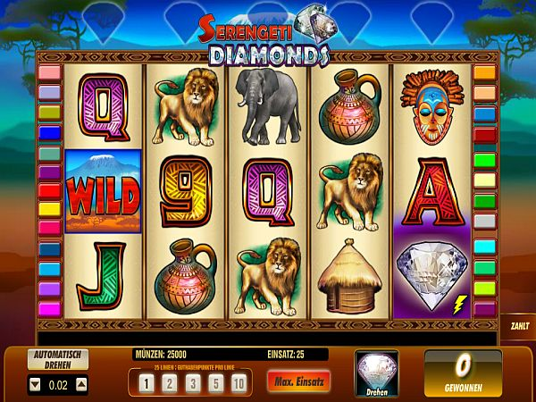 spielautomaten online serengeti diamonds