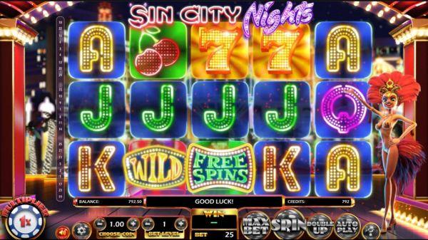 Sin City Nights spelautomat - Mobil6000