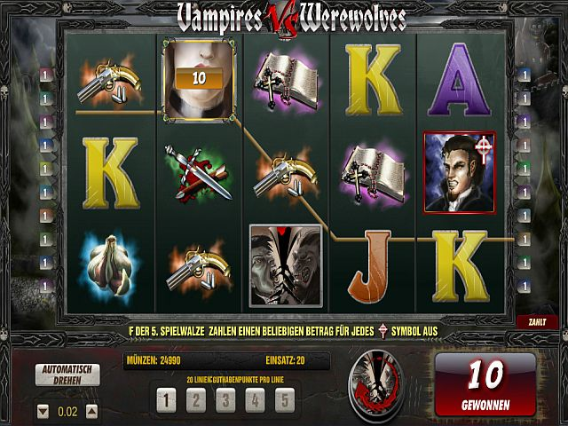 Vampires vs Werevolves Slot