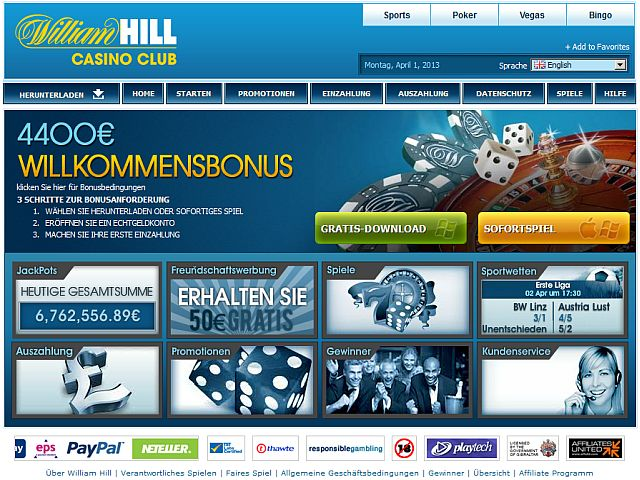 william hill online casino spielen king