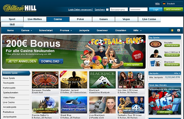online william hill casino um echtgeld spielen